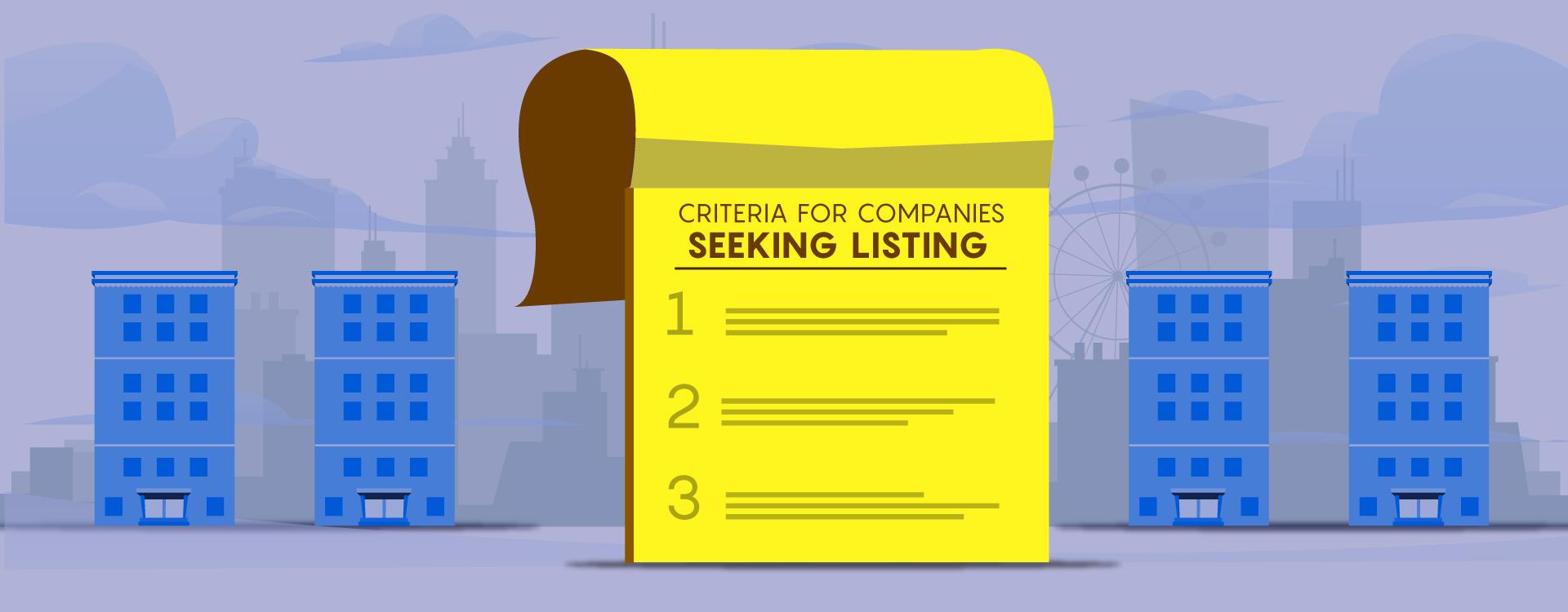 Criteria for Startups Seeking Listing
