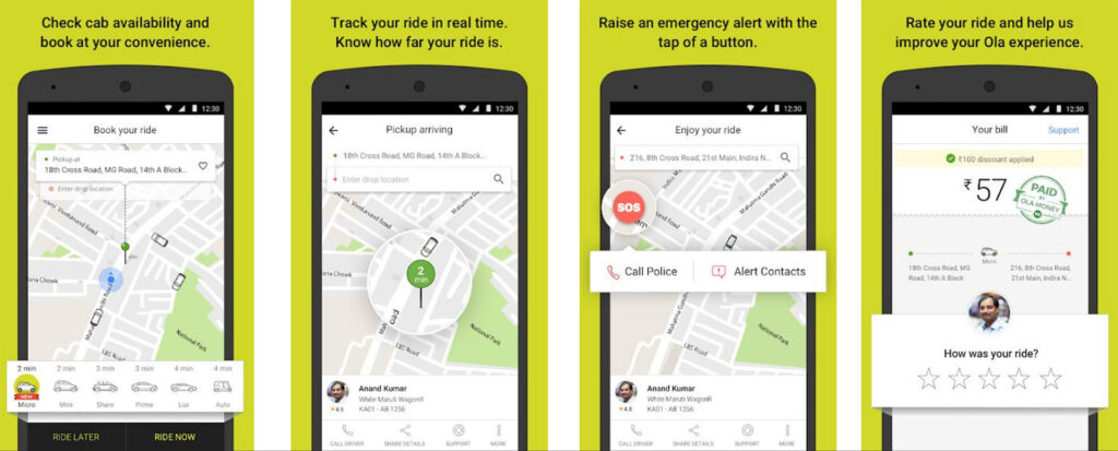 Ola Cabs Streamlined Application