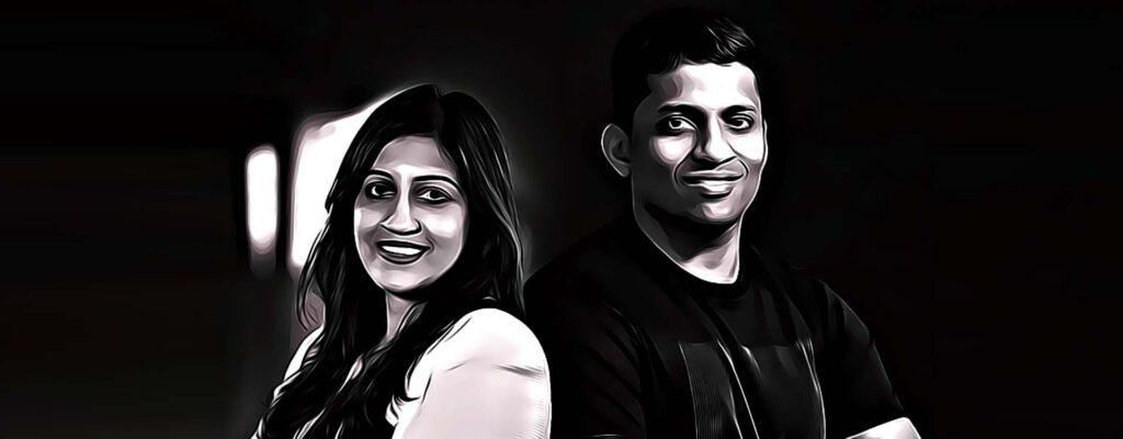 Biju's founders: Byju Raveendran, Divya Gokulnath