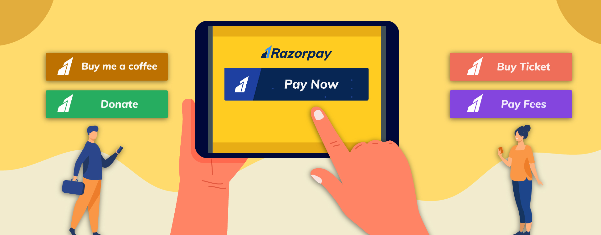 The payment buttons from Razorpay helps to monetize any blog or website.