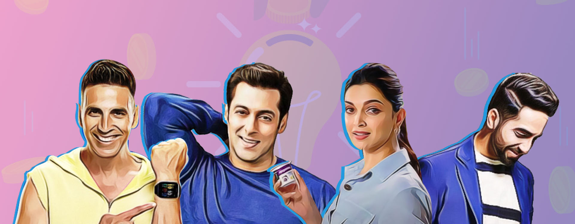 Startups are using the bollywood biggies image to maximise reach and attain a top of the mind recall.