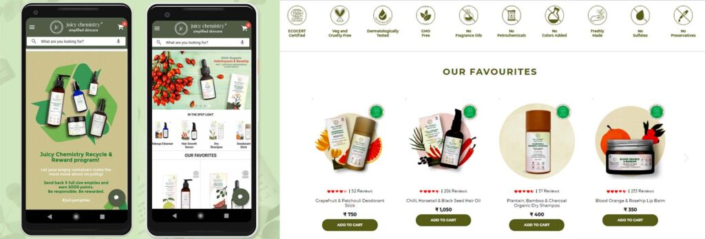 Juicy Chemistry and the diverse range of products
