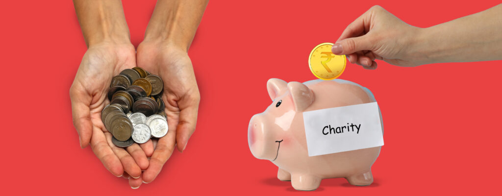 Claiming tax breaks by giving to charity