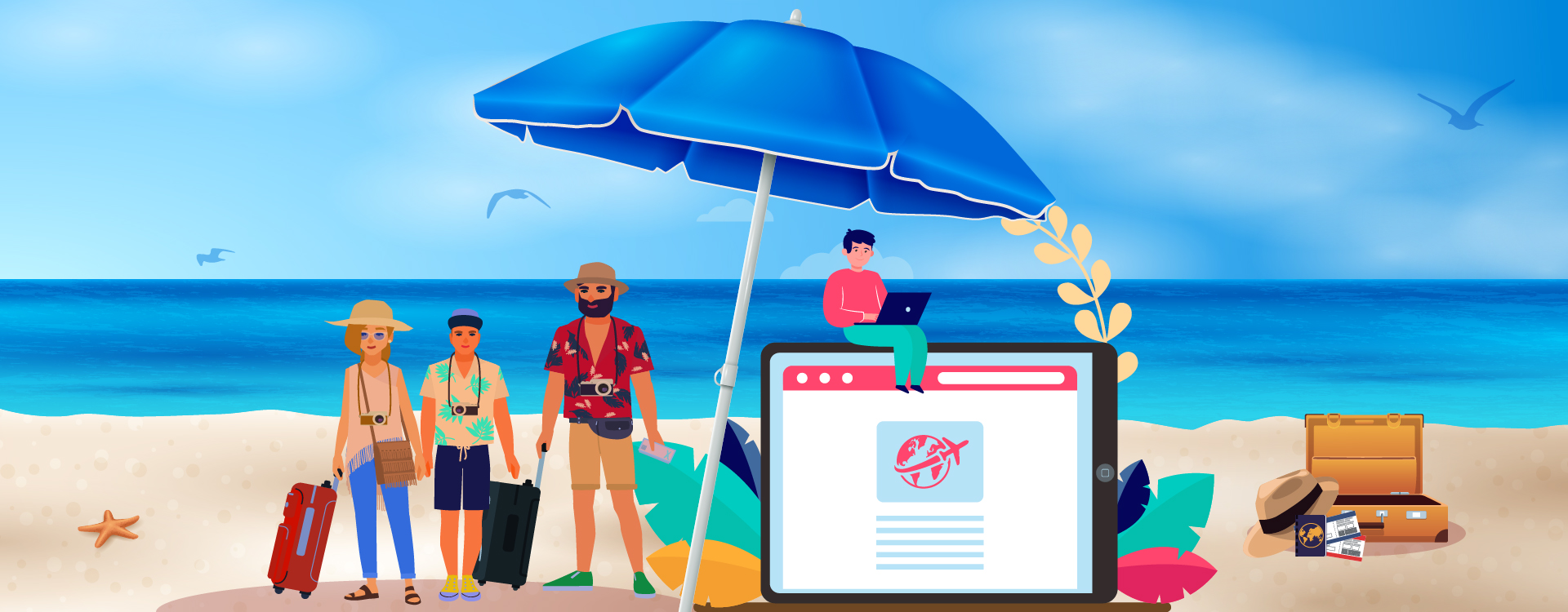 The e-commerce companies are diversifying into online travel industry.