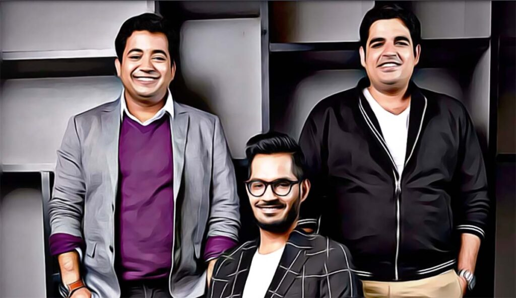 Founders Gaurav Munjal, Roman Saini and Hemesh Singh.