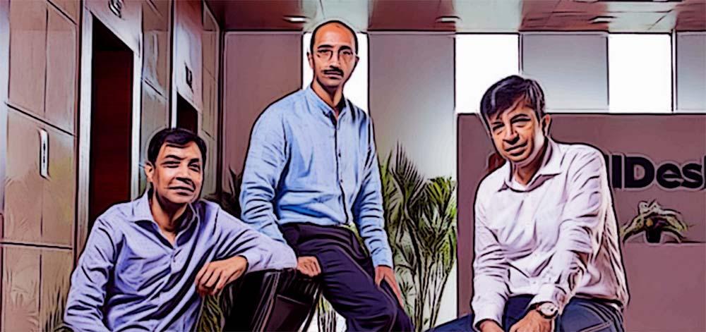 BillDesk Founders: M.N. Srinivasu, Ajay Kaushal and Karthik Ganapathy