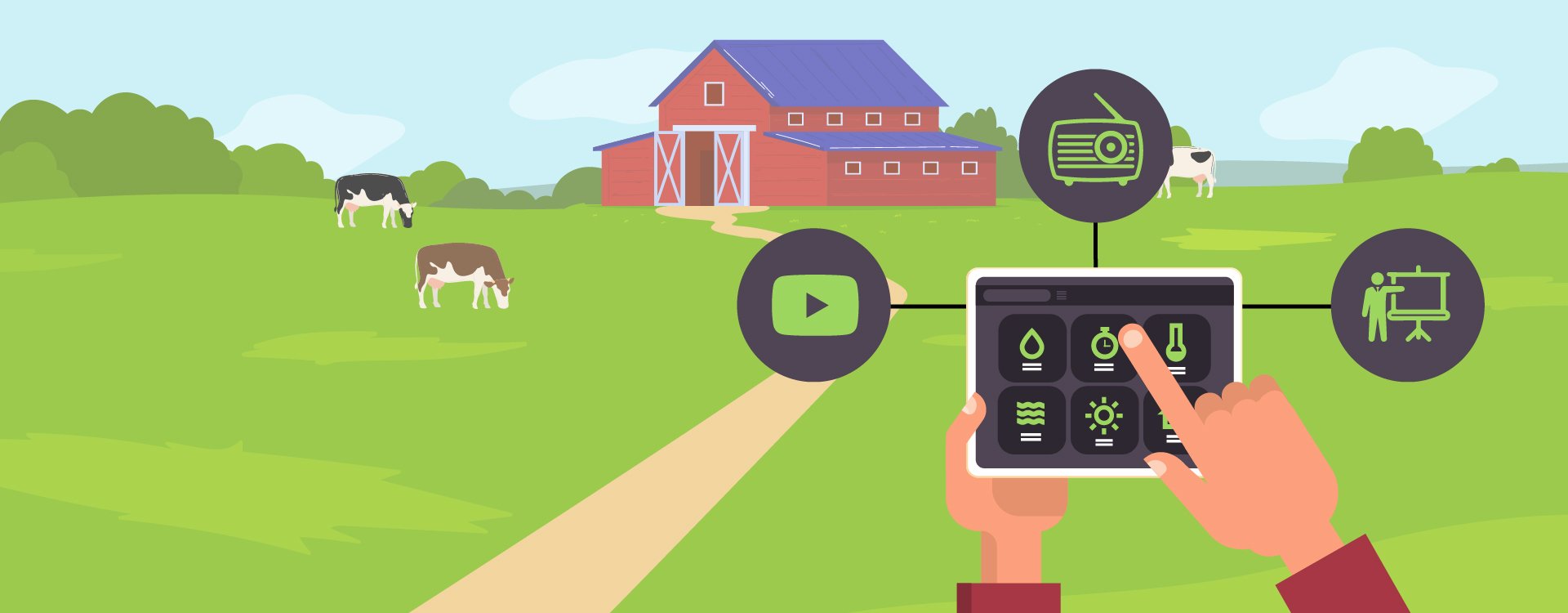 The marketing trends in agritech startups will be mixture of mass, video and experiential.