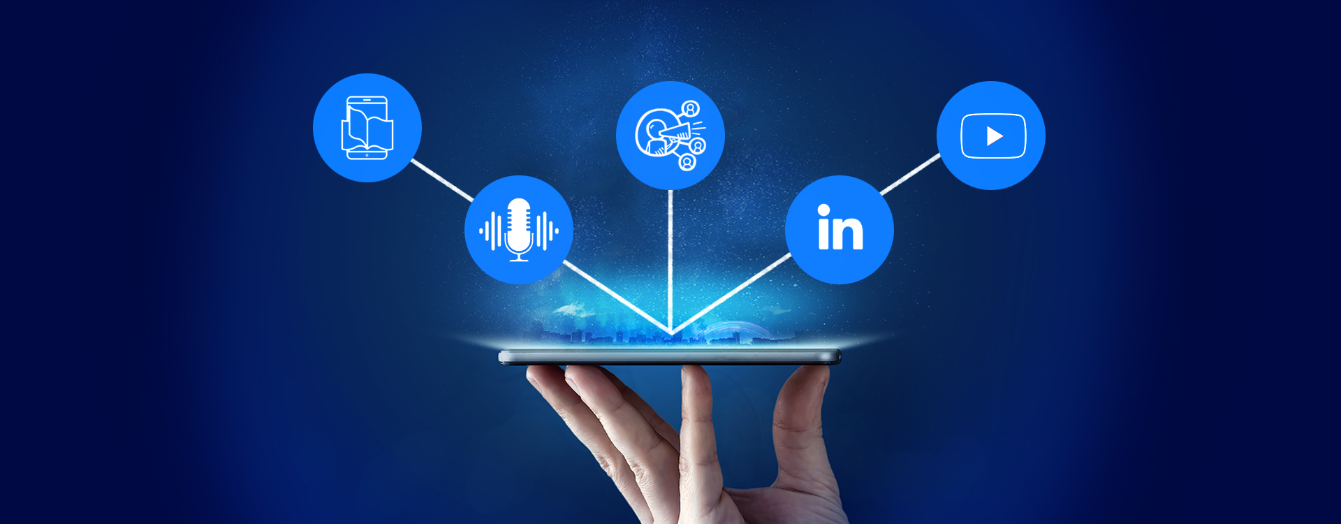 Marketing trends will include channels of LinkedIn, YouTube,E-books etc.