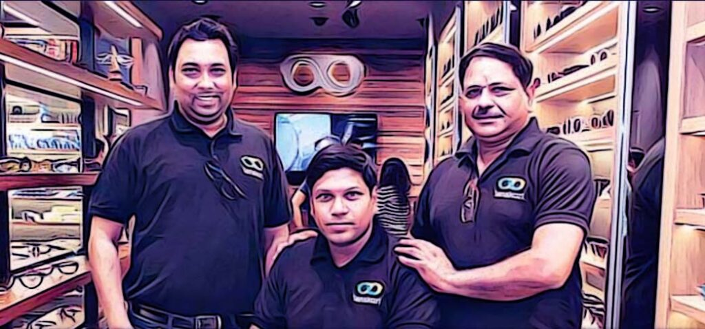 Founders Peeyush Bansal, Amit Chaudhary and Sumeet Kapahi.