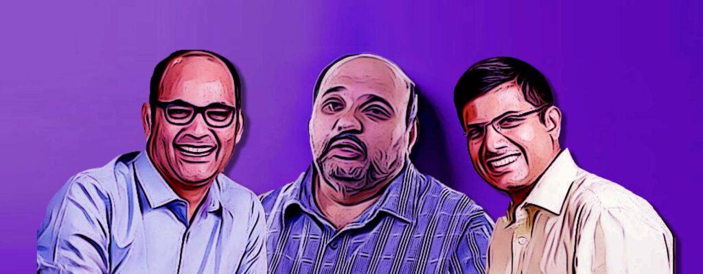 Founders Sameer Nigam, Burzin Engineer, Rahul Chari