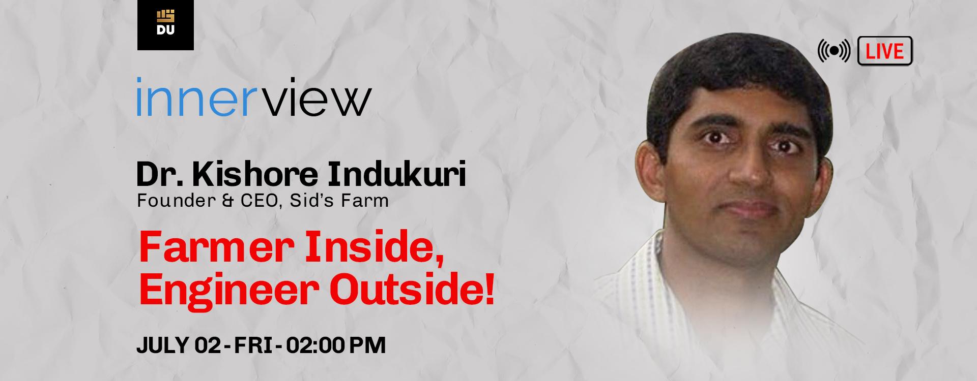 Workshop with Dr. Kishore Indukuri