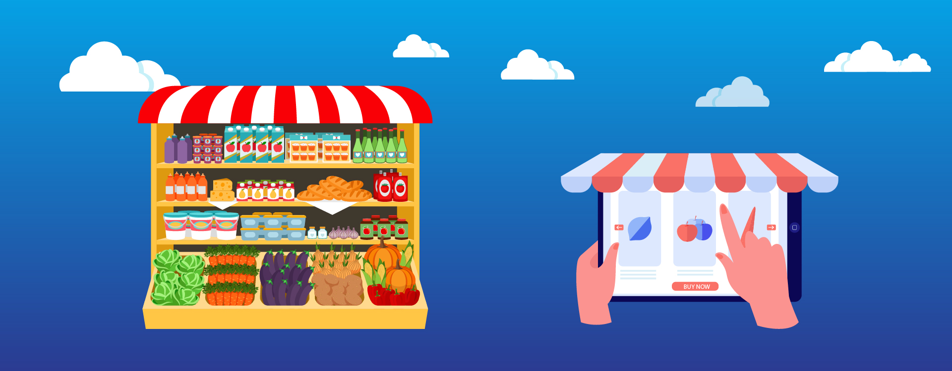 Local retailers should move online to become discoverable in google.