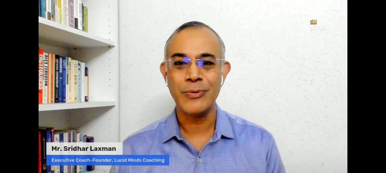 Sridhar Laxman elaborating the methods for preparing through tough times