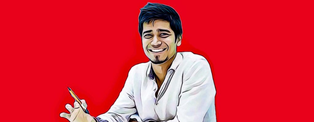A stylised image of the founder --Azhar Iqbal.