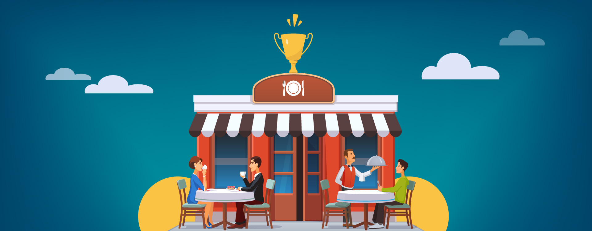 Standalone restaurants own a major share in the restaurant and food businesses.