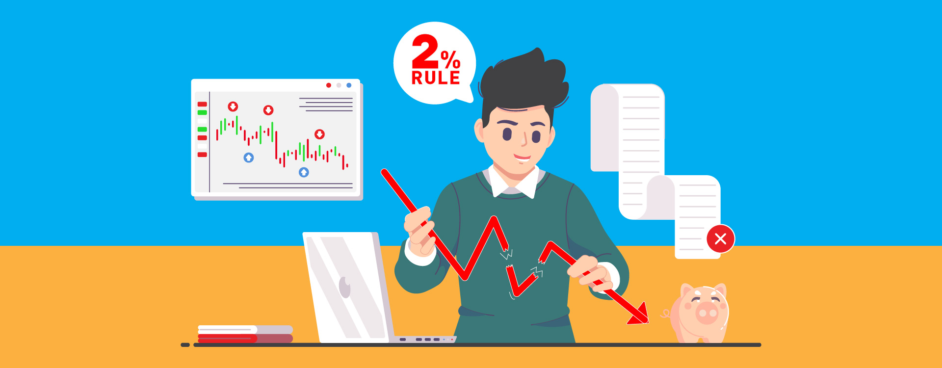 Using 2% rule in the stock market investors can avoid falling in huge risks.